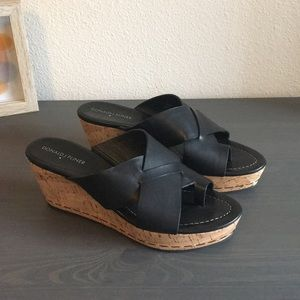 Donald J. Pliner Cork Wedges Size 8.5